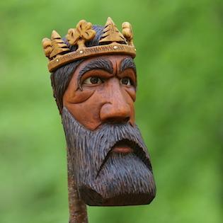 král ze dřeva, dřevořezba