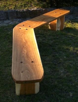 dubové lavice