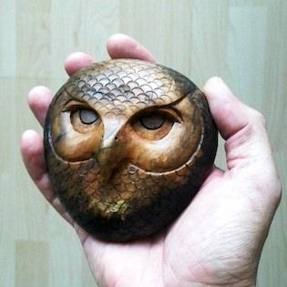 sova ze dřeva