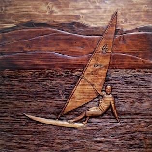 windsurfista, windsurfing