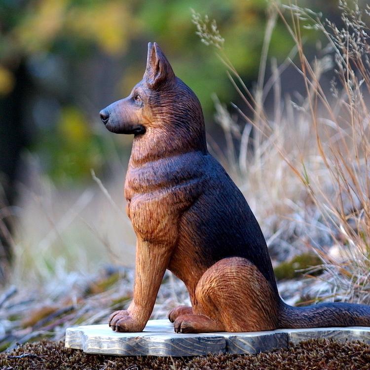 ovčák ze dřeva, pes ze dřeva